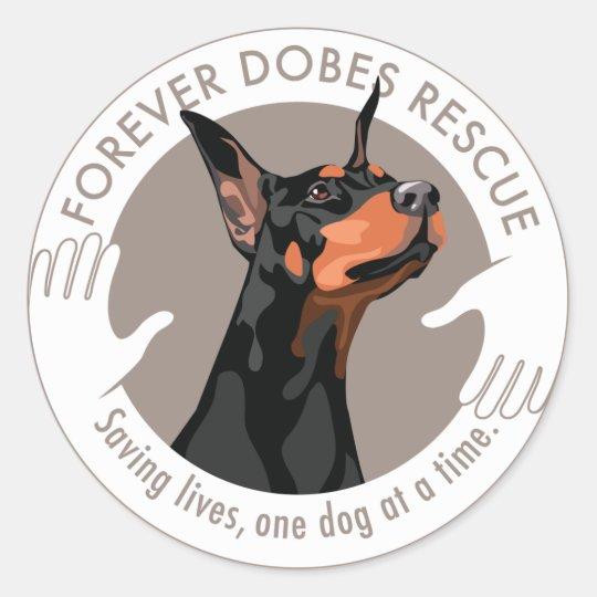 dobe-logo-round-gray classic round sticker
