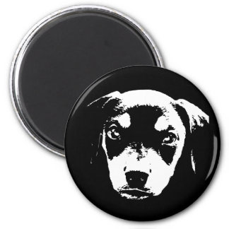 Dobe Pup -bw 2 Inch Round Magnet