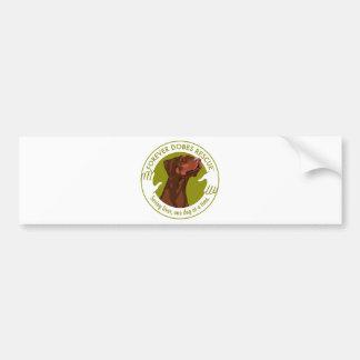 dobe-red-uncropped-ear-logo-8-29-11 bumper stickers