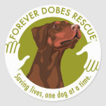 dobe-red-uncropped-ear-logo-8-29-11 round stickers