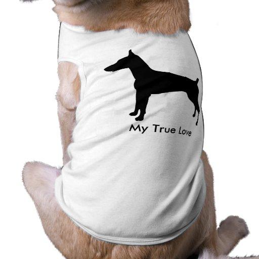 Dobe Silhouette True Love Dog T-shirt