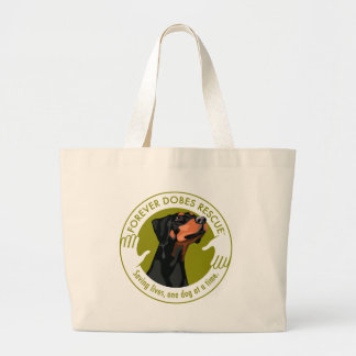 dobe-uncropped-ear-logo-8-29-11 large tote bag