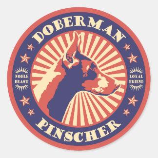 Dobe Vintage Emblem Classic Round Sticker