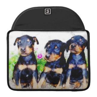 Doberm Pinscher puppies Sleeves For MacBooks