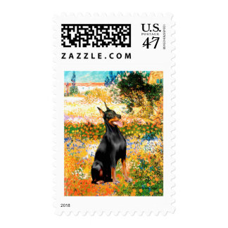 Doberman 1 - Garden (VG) Stamp