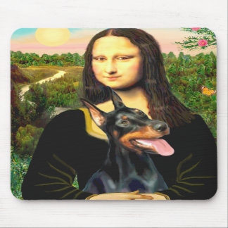 Doberman 1 - Mona Lisa Mouse Pad