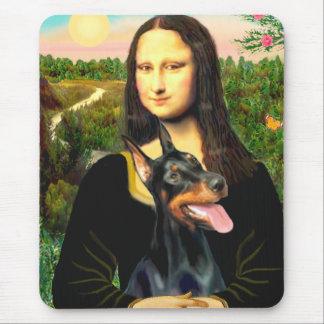 Doberman 1 - Mona Lisa Mousepads
