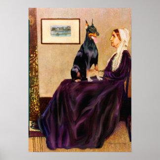 Doberman 1 - Whistlers Mother Print
