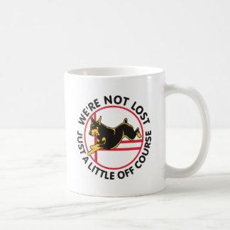 Doberman Agility Off Course Coffee Mug