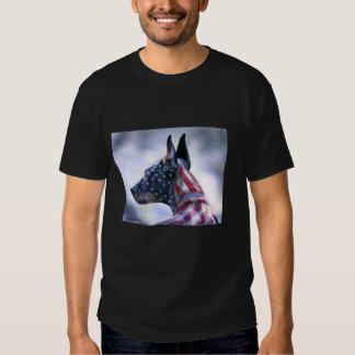 Doberman americano del orgullo playera
