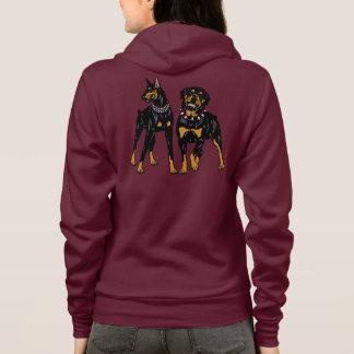 doberman and rottweiler hoodie