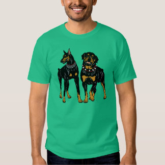 doberman and rottweiler t-shirt