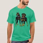 doberman and rottweiler T-Shirt