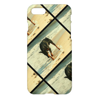 Doberman at the Beach Painting Image iPhone 7 Case