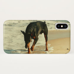 Case-Mate Barely There iPhone X Case with Doberman Pinscher Phone Cases design