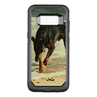 Doberman at the Beach Painting Image OtterBox Commuter Samsung Galaxy S8 Case
