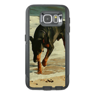 Doberman at the Beach Painting Image OtterBox Samsung Galaxy S6 Case