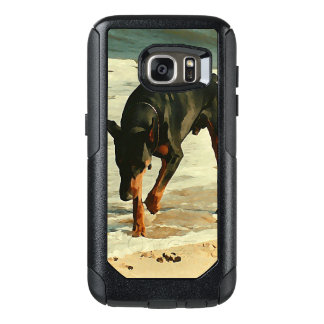 Doberman at the Beach Painting Image OtterBox Samsung Galaxy S7 Case