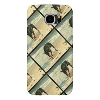 Doberman at the Beach Painting Image Samsung Galaxy S6 Case