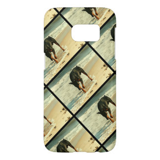 Doberman at the Beach Painting Image Samsung Galaxy S7 Case