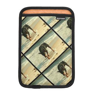 Doberman at the Beach Painting Image Sleeve For iPad Mini