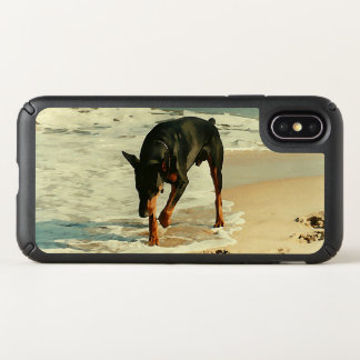Doberman at the Beach Painting Image Speck iPhone X Case