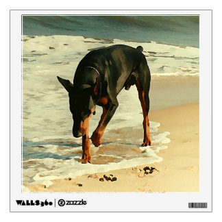 Doberman at the Beach Painting Image Room Decal
