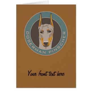 Doberman Badge, Fawn Greeting Card