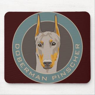 Doberman Badge, Fawn Mousepads