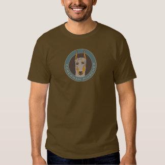 Doberman Badge, Fawn Tee Shirts