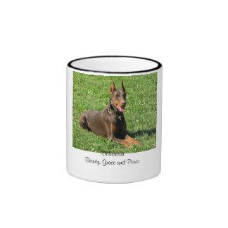 Doberman:  Beauty, Grace and Power Ringer Mug