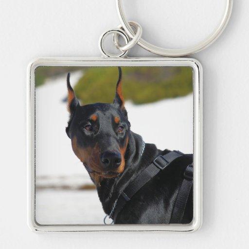 Doberman - Black - Bogie Keychain