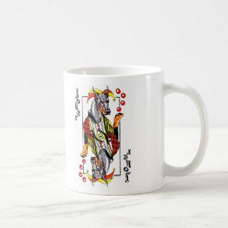 Doberman Black Joker Coffee Mugs
