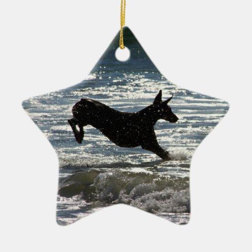 Doberman - Black - Ocean Leap Christmas Tree Ornaments