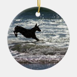 Doberman - Black - Ocean Leap Ornaments