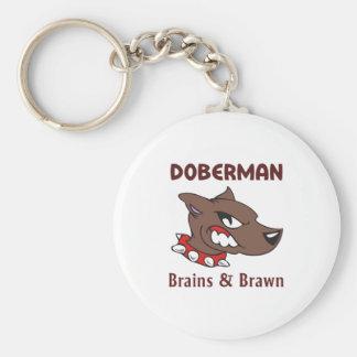 Doberman Brains & Brawn Key Chain