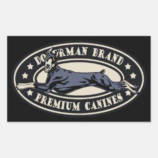 Doberman Brand Rectangular Sticker