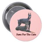 Doberman Breast Cancer Button