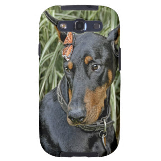 Doberman Butterfly Surprise Galaxy SIII Cases