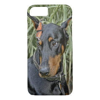 Doberman Butterfly Surprise iPhone 8/7 Case