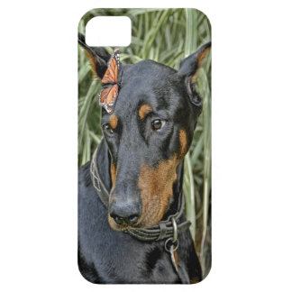 Doberman Butterfly Surprise iPhone SE/5/5s Case