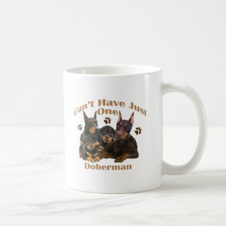 Doberman Can't Have Just One Coffee Mug