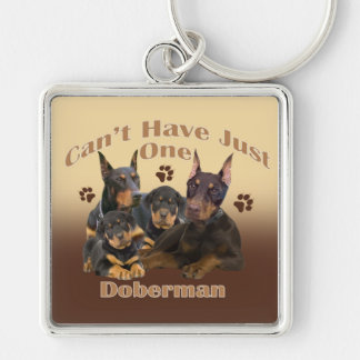Doberman Can't Have Just One Key Chain