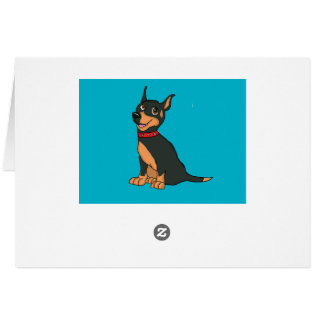 Doberman cards and paper products