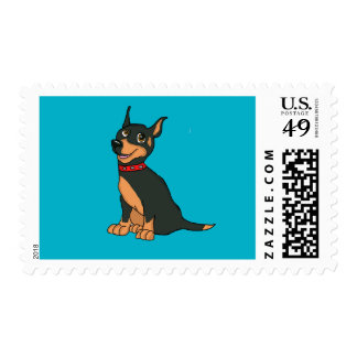 Doberman cards and paper products postage
