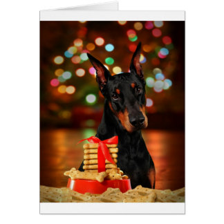 Doberman Christmas Card