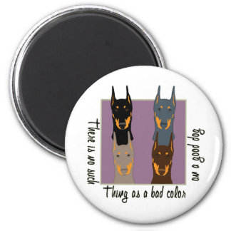 Doberman colors 2 inch round magnet