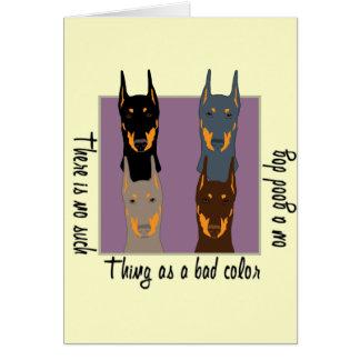 Doberman colors greeting card