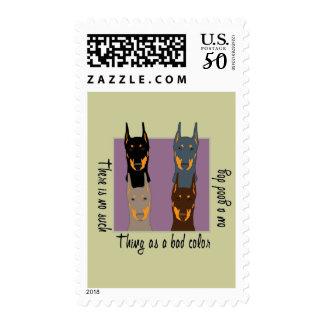Doberman colors postage