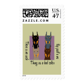 Doberman colors postage stamp